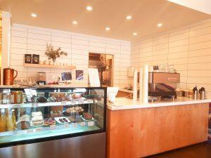 Coffee and cake bar at Olive + Ruby kitsilano